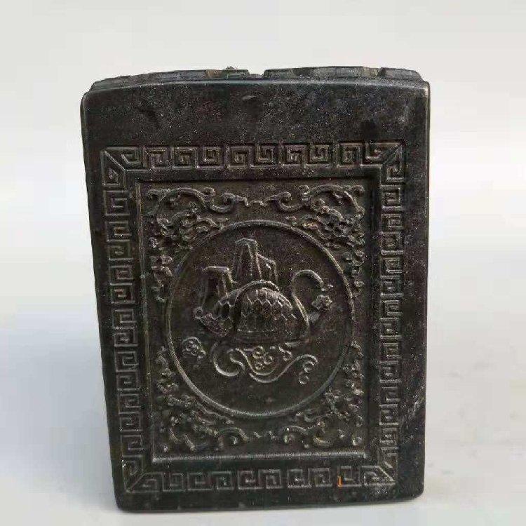Black Bluestone Ancient Seal Hand-carved - 2