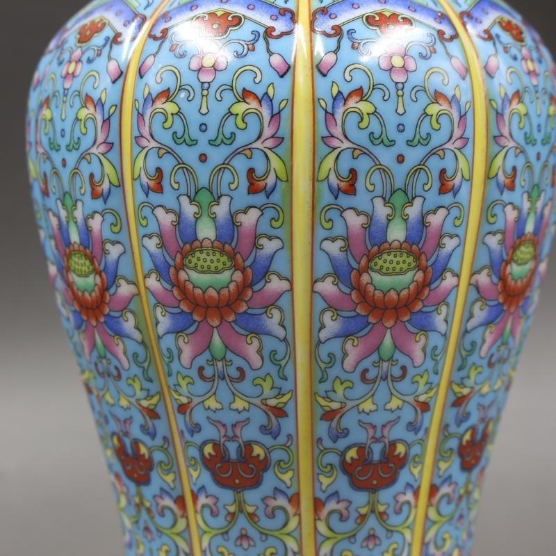 Drawing Golden Enamel Colored Avalokitesvara Bottle - 5