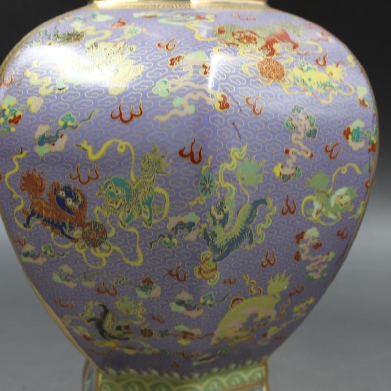 Qianlong Gold Enamel flower-bird hexagonal celestial - 6