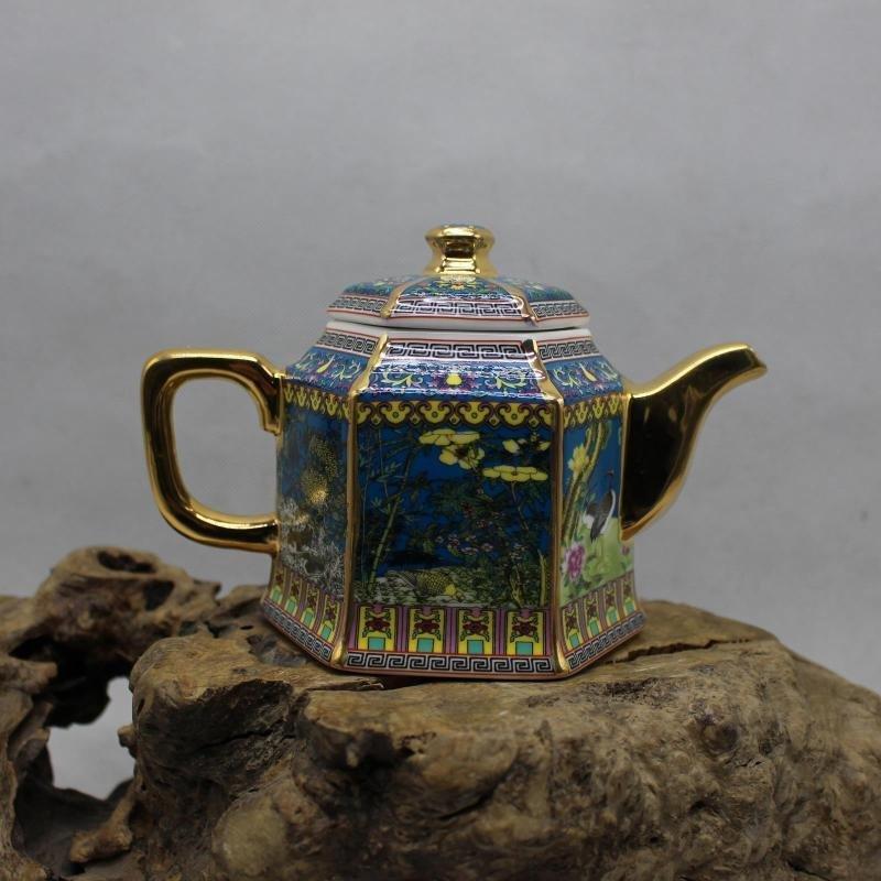 Golden Flower and Bird Teapot - the Year of Qianlong of - 2