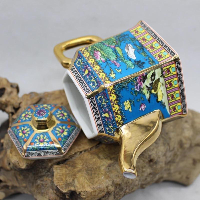 Golden Flower and Bird Teapot - the Year of Qianlong of - 4
