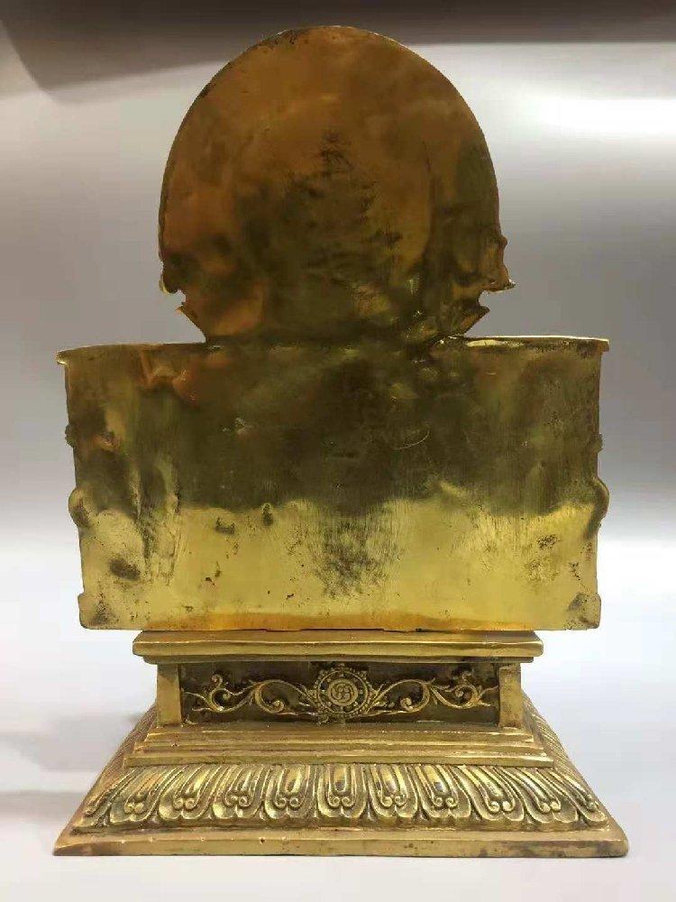 Pure bronze statue of  Buddha, Goddess of Wealth, - 2