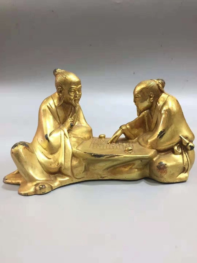 The Old Man of Pure Bronze Plays Chess with the Old Man