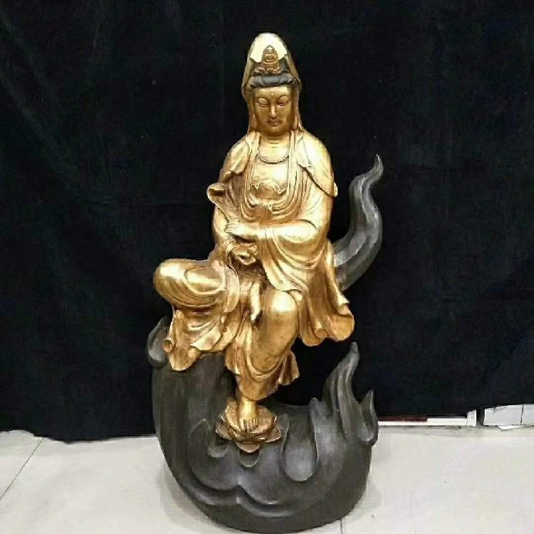 Flames of pure bronze Buddha statues Qing Dynasty