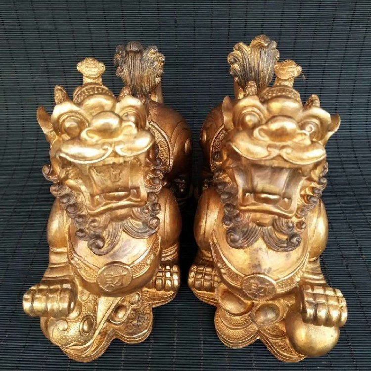 Pure Copper Kirin Place a Pair to Recruit Money