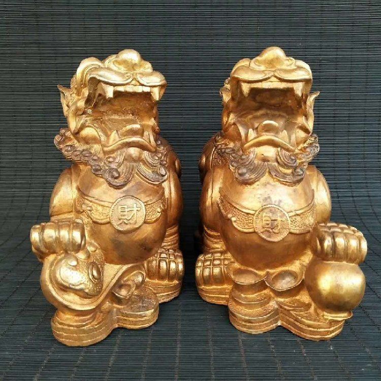 Pure Copper Kirin Place a Pair to Recruit Money - 2
