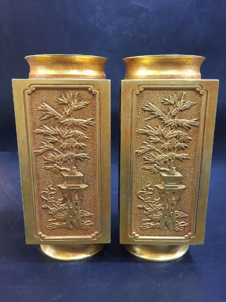 Pure Copper Four Seasons Vase
