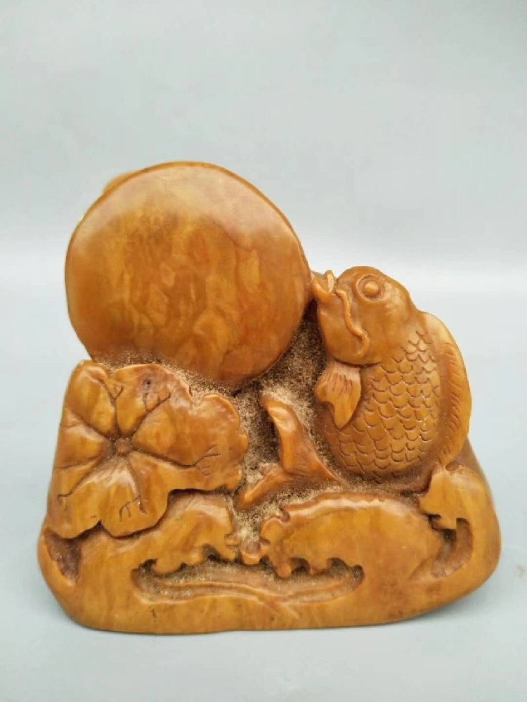 Shoushan Stone Seal Carved with Fish Stone Seal