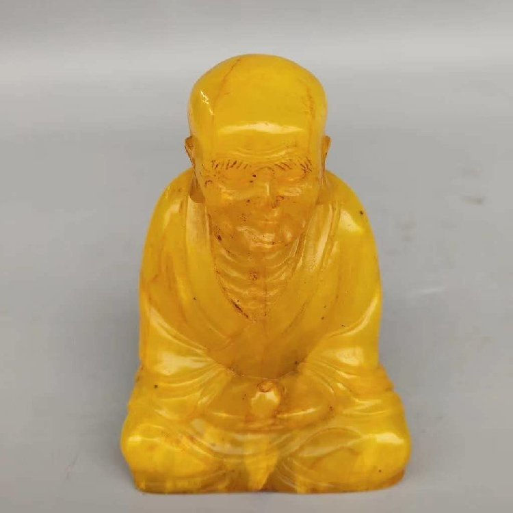 Tian Huang Stone Carved Seal of Buddha Statue