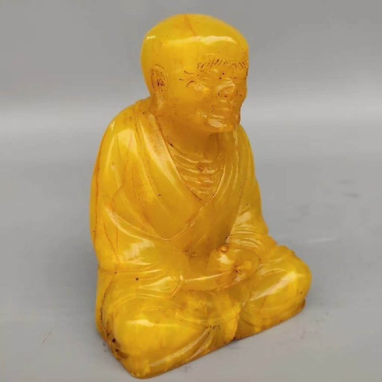 Tian Huang Stone Carved Seal of Buddha Statue - 4