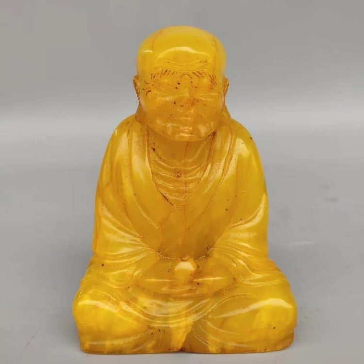 Tian Huang Stone Carved Seal of Buddha Statue - 6