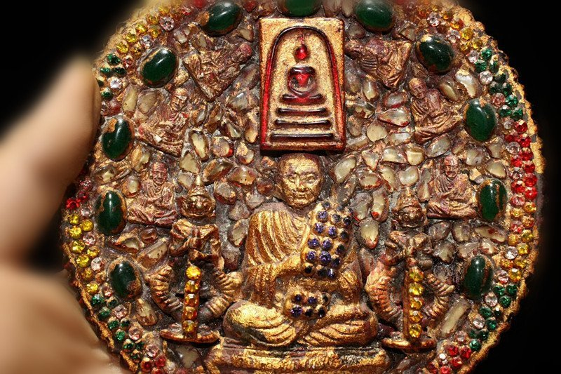 Buddhist pure copper and gold plate