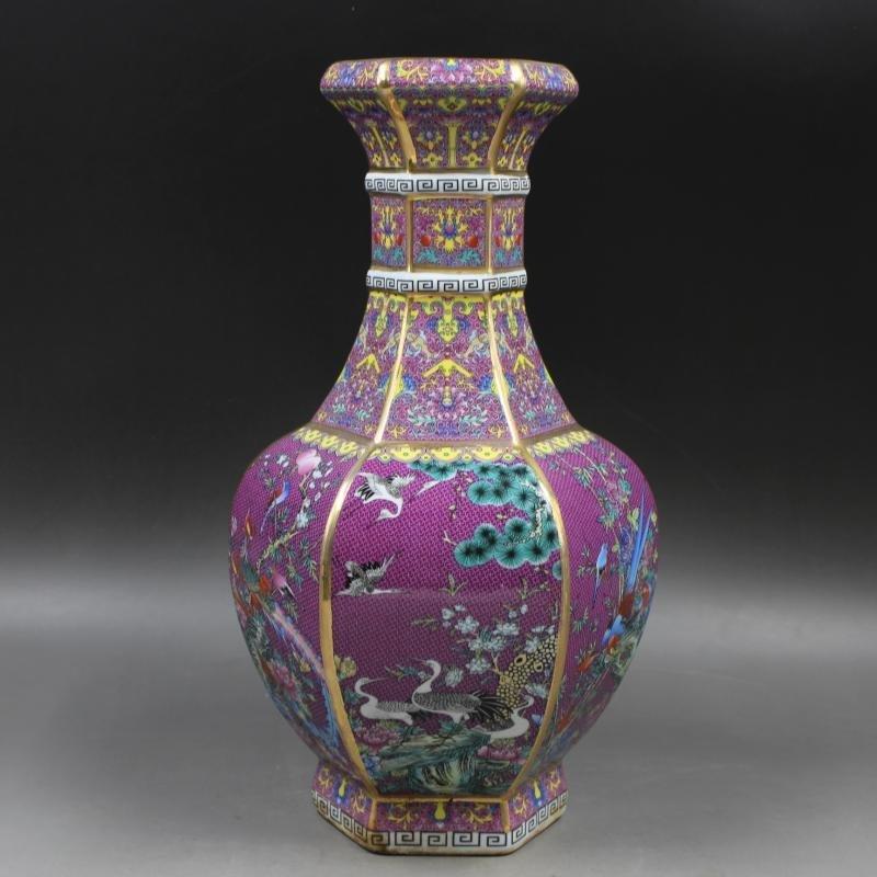 Qianlong of Qing Dynasty painted gold enamel flowers