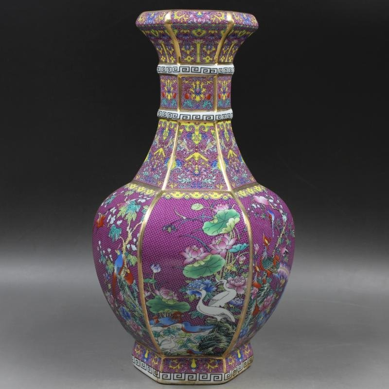 Qianlong of Qing Dynasty painted gold enamel flowers - 2