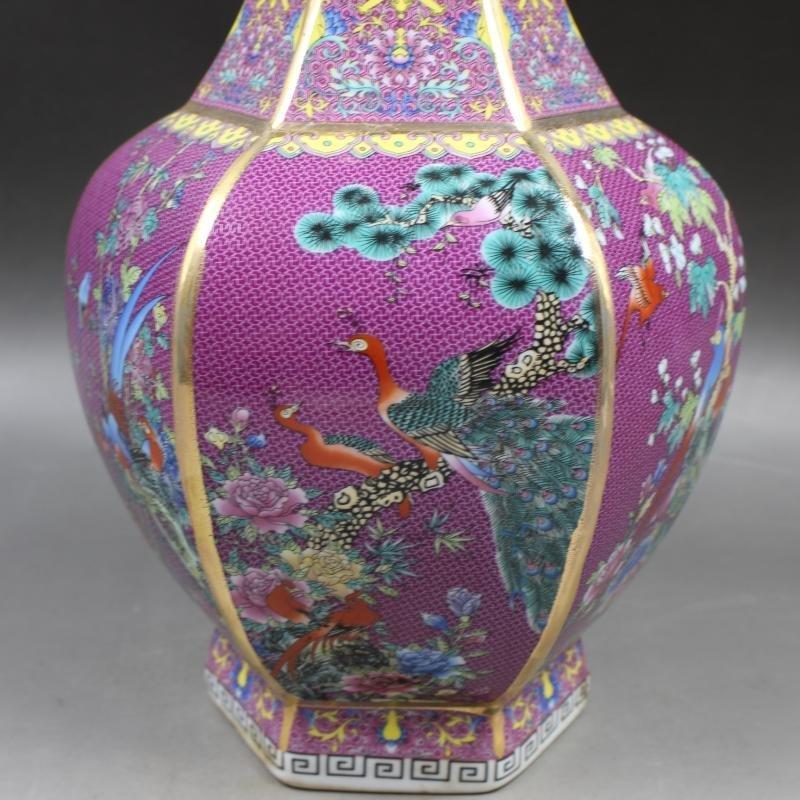 Qianlong of Qing Dynasty painted gold enamel flowers - 3