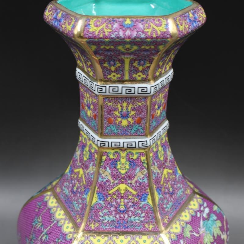 Qianlong of Qing Dynasty painted gold enamel flowers - 5