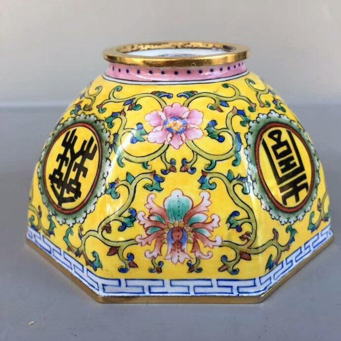 Hand-made cloisonne enamel copper-plated porcelain