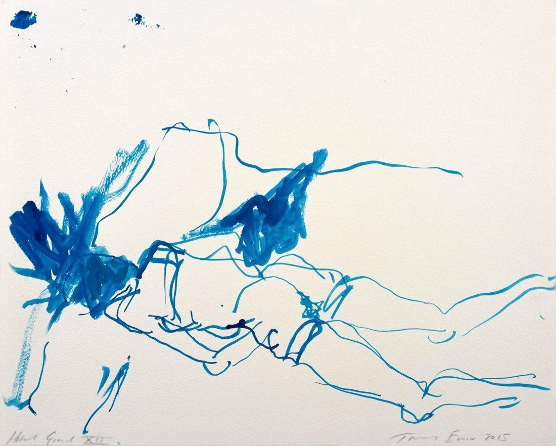 Tracey Emin original Nude gouache drawing 2015