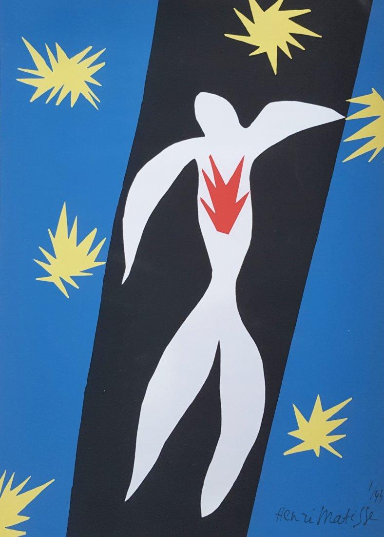 Henri Matisse Lithograph entitled La Chut dIcare 1945