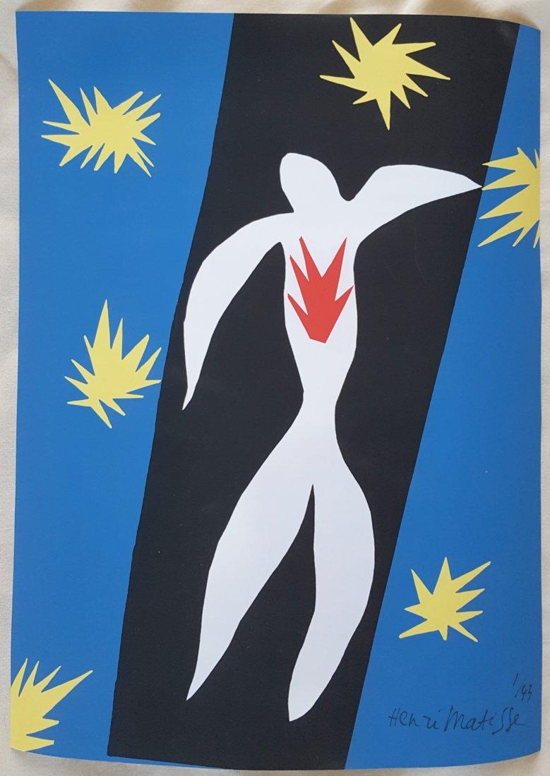 Henri Matisse Lithograph entitled La Chut dIcare 1945 - 2