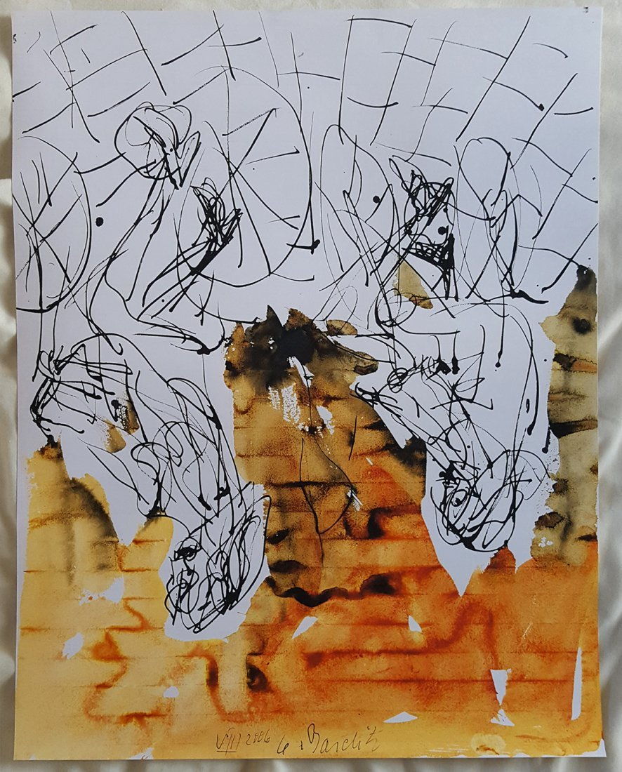 Untitled 2006 Watercolour by Georg Baselitz - 2
