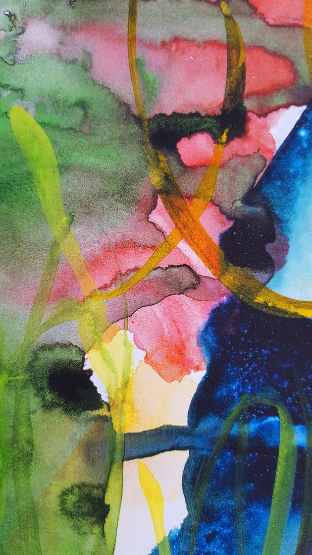 Untitled 78 hand painted Watercolor by Gerhard Richter - 6