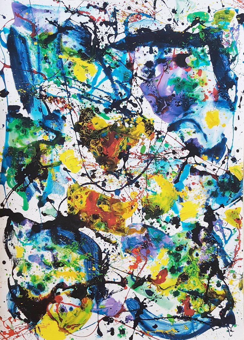 Untitled 1986 Acrylic on Paper by Sam Francis