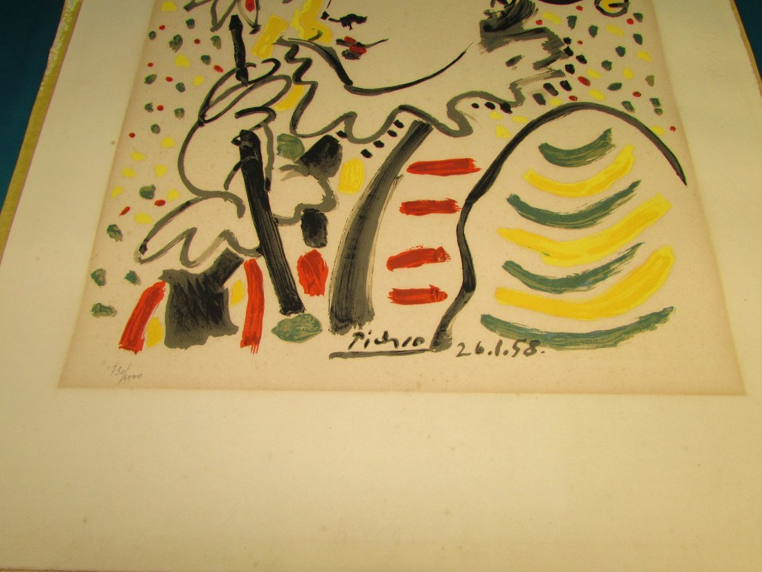 Pablo Picasso The Jester 1958 Lithograph Print Numbered - 3