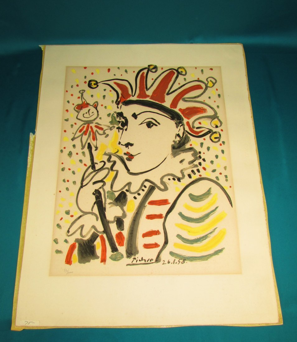 Pablo Picasso The Jester 1958 Lithograph Print Numbered - 5