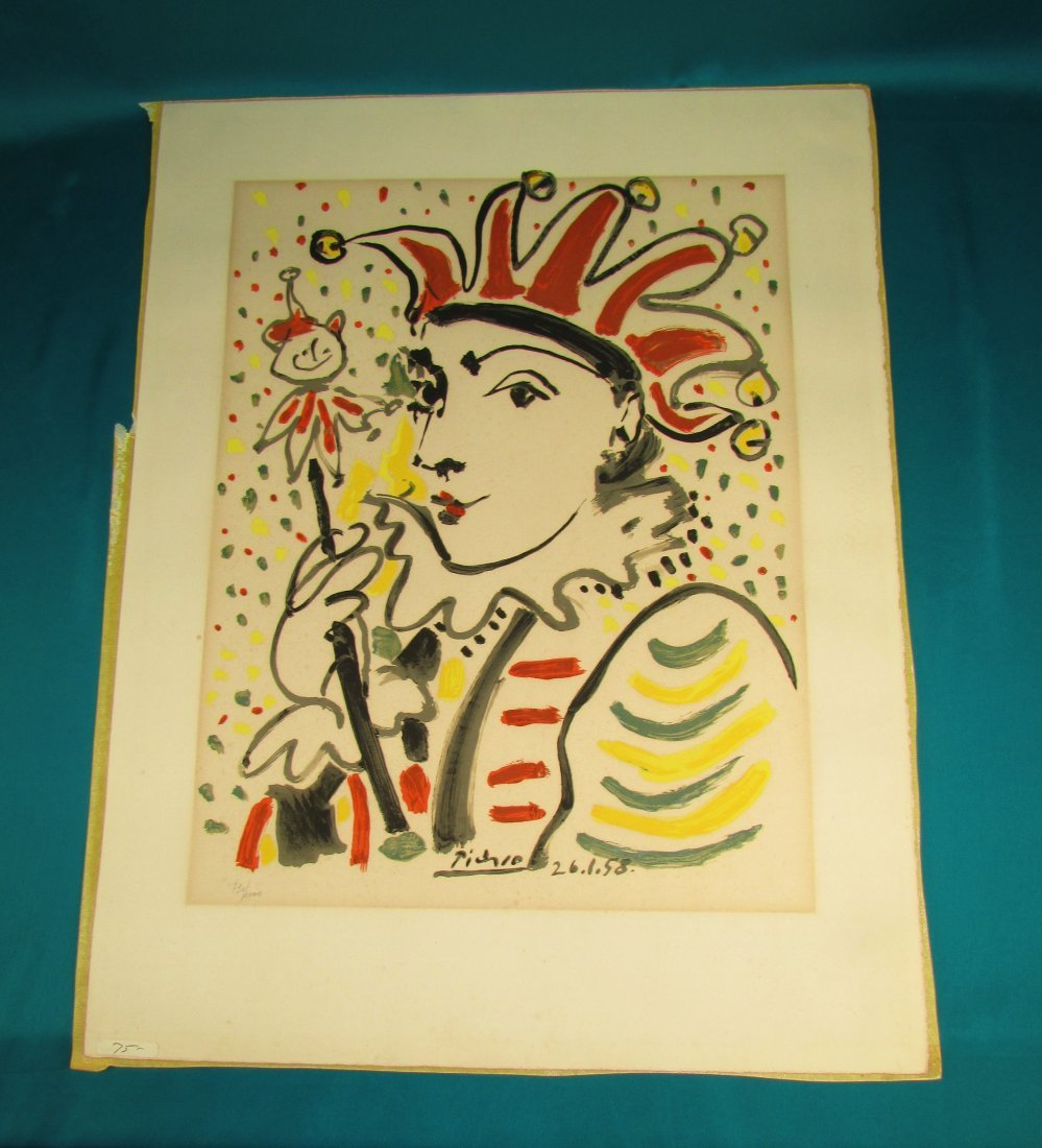 Pablo Picasso The Jester 1958 Lithograph Print Numbered - 6