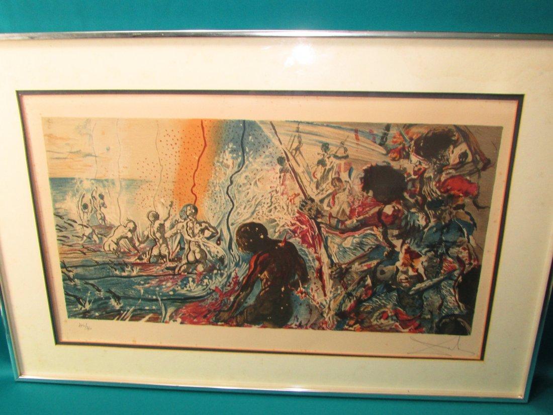 Salvadore Dali Tuna Fishing 1971-72 Signed Lithograph/P - 5
