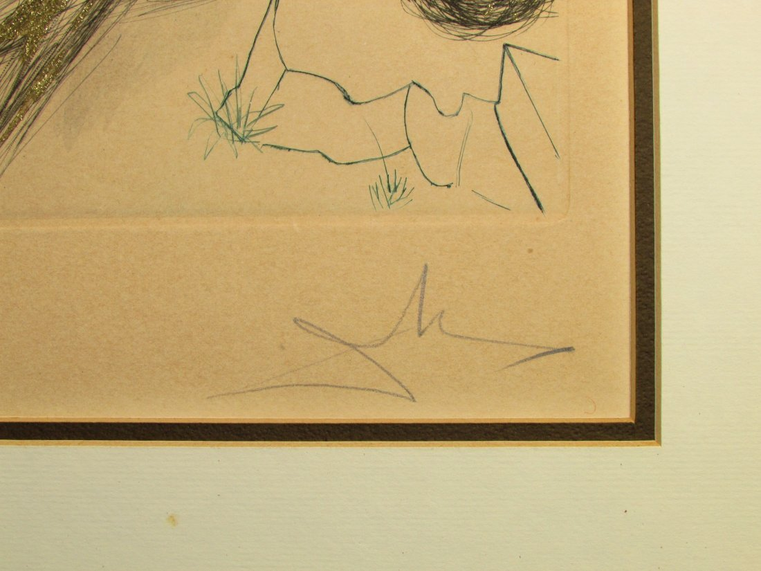 Salvador Dali Reclining Nude Lithograph Print Signed - 4