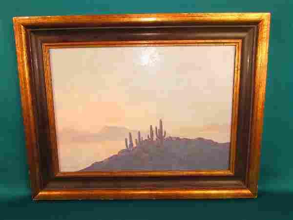 Jack Van Ryder (1899–1967) Desert Scene Oil Painitng