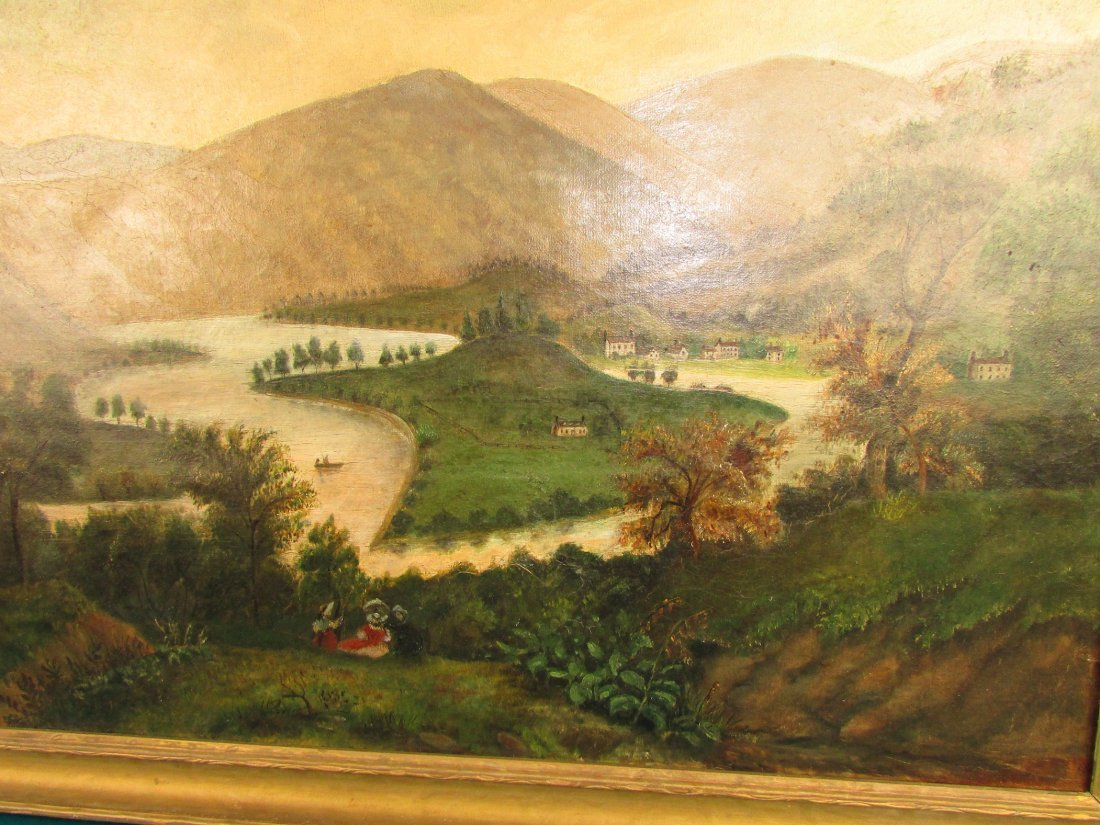American 19th Cent. Primitive Rural Landscape Painting - 2
