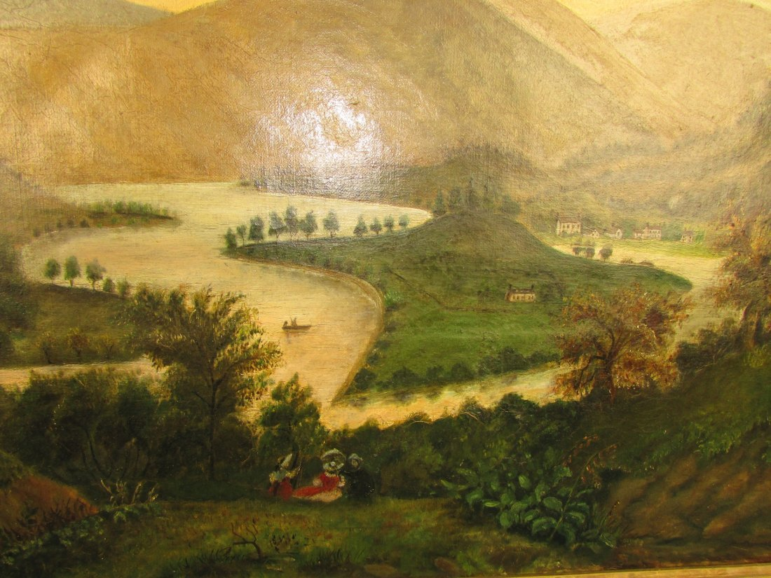 American 19th Cent. Primitive Rural Landscape Painting - 3