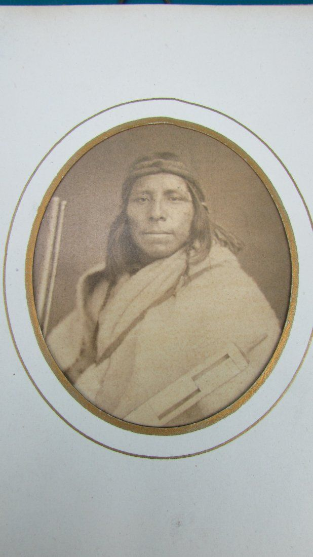 Early American Indian Dakota Sioux Chief Photo 1857
