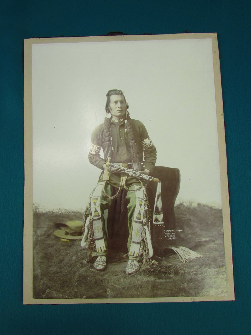 Early Photograph Native American Indian Yakima Chief - 5