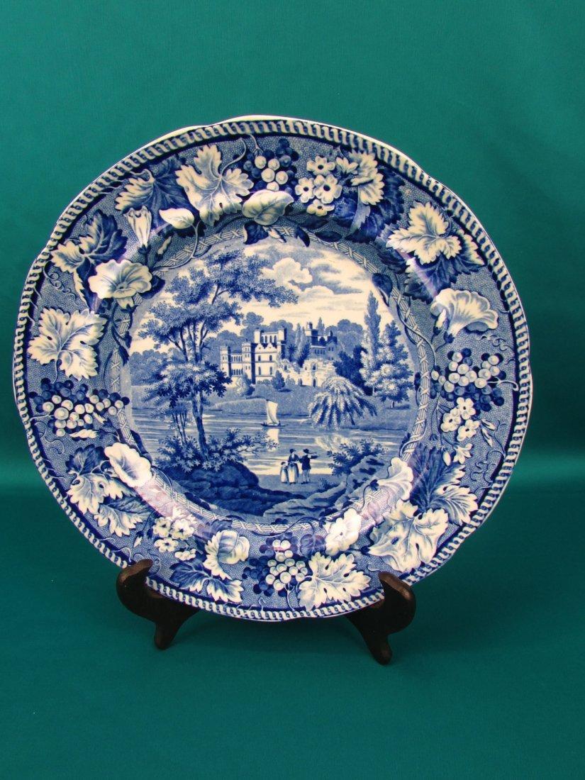Blue&White Transferware Plate Guys Cliffe Enoch Wood