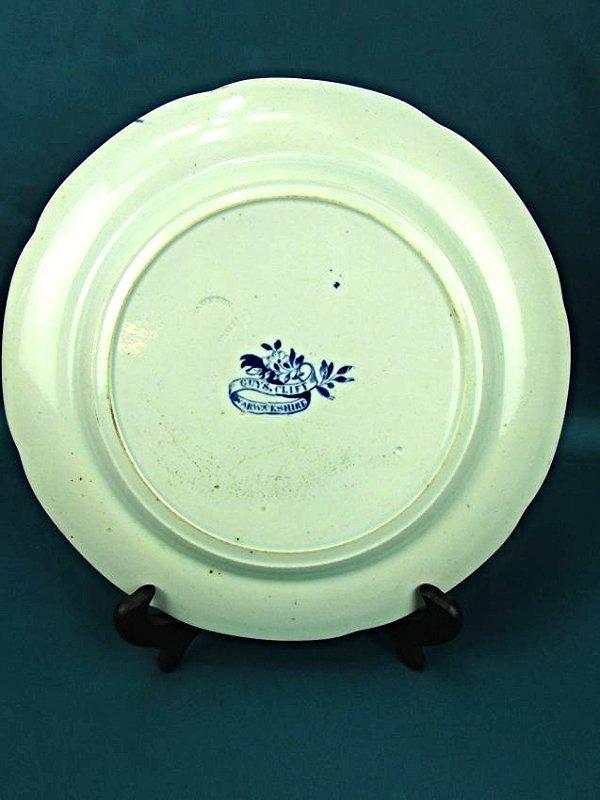 Blue&White Transferware Plate Guys Cliffe Enoch Wood - 2
