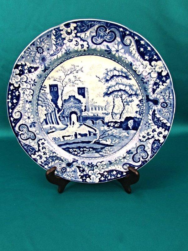 Ralph&James Clews Staffordshire BlueTransferware Plate