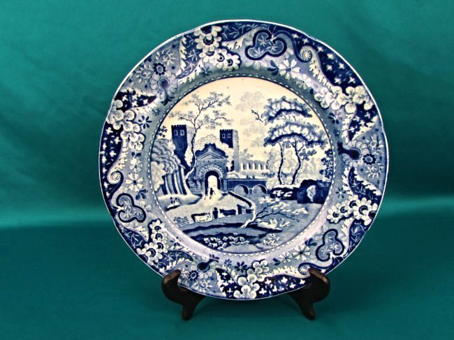 Ralph&James Clews Staffordshire BlueTransferware Plate - 4