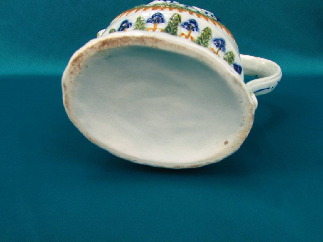 Circa 1800 Staffordshire Pearlware Enameled Peacock Jug - 3