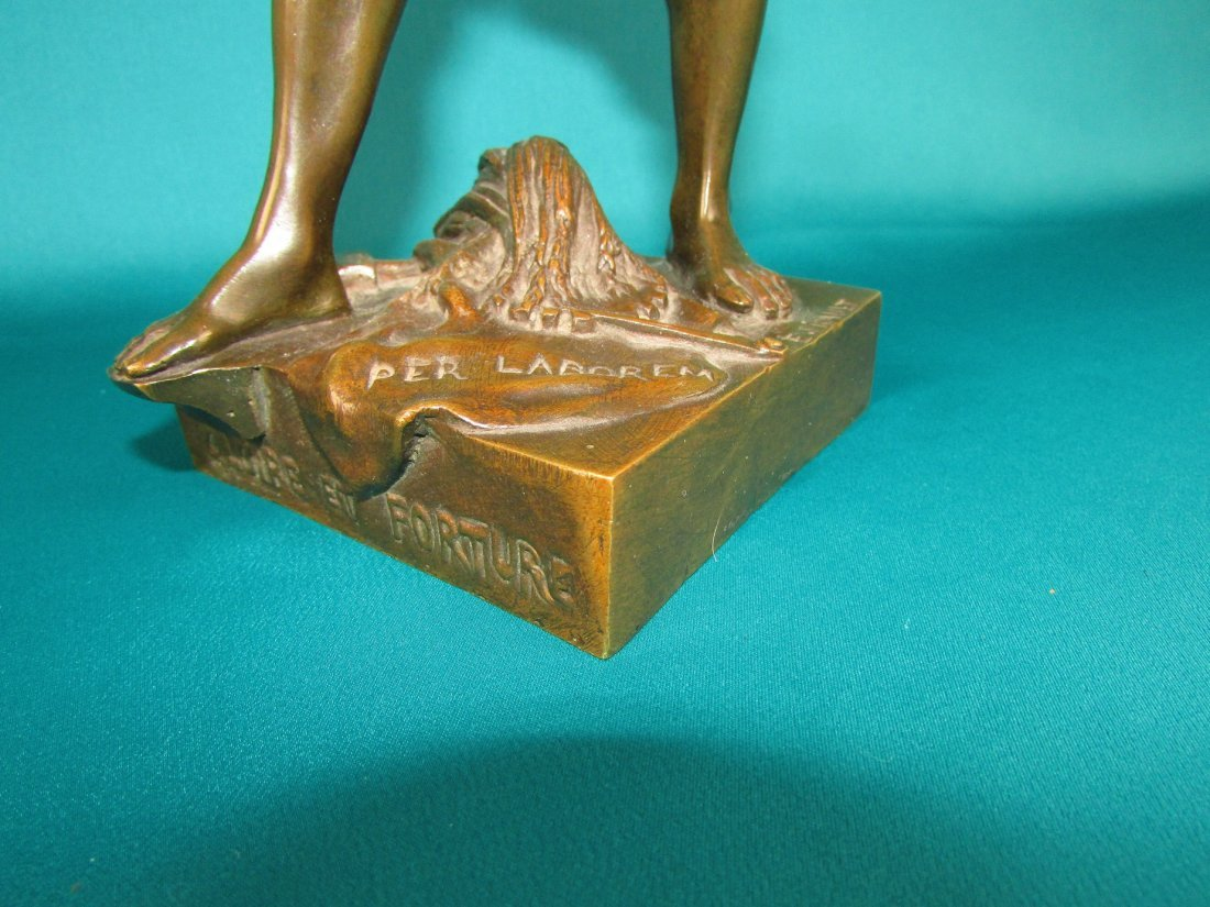 Emile Louis Picault, Bronze Figure A Gloire et Fortune - 2