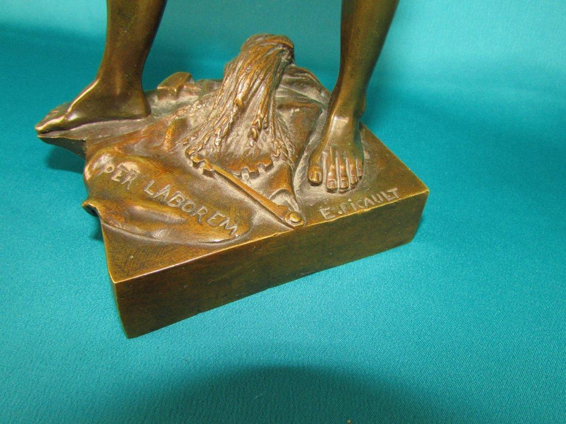 Emile Louis Picault, Bronze Figure A Gloire et Fortune - 3