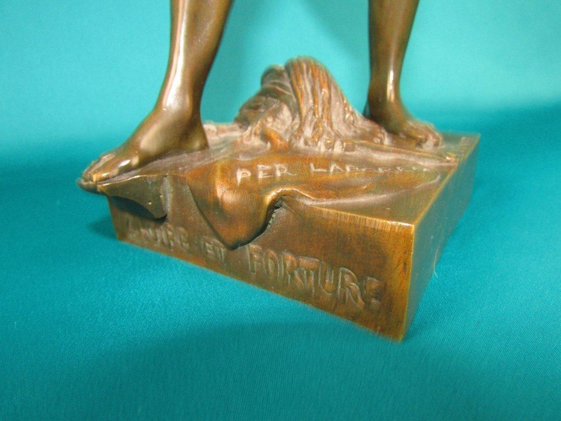 Emile Louis Picault, Bronze Figure A Gloire et Fortune - 6