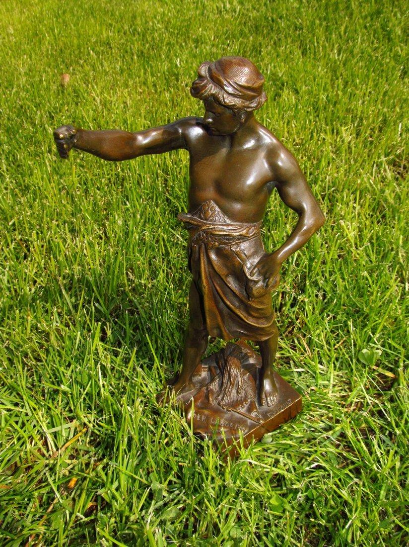 Emile Louis Picault, Bronze Figure A Gloire et Fortune - 8