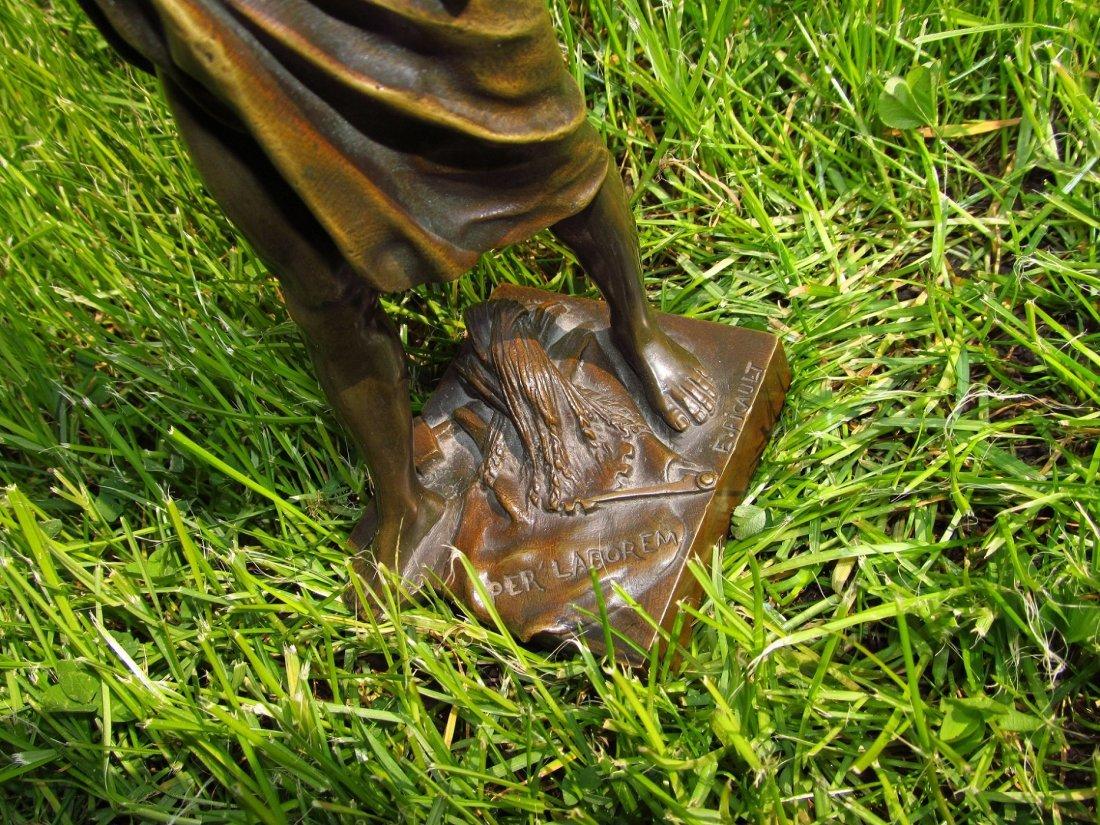 Emile Louis Picault, Bronze Figure A Gloire et Fortune - 9