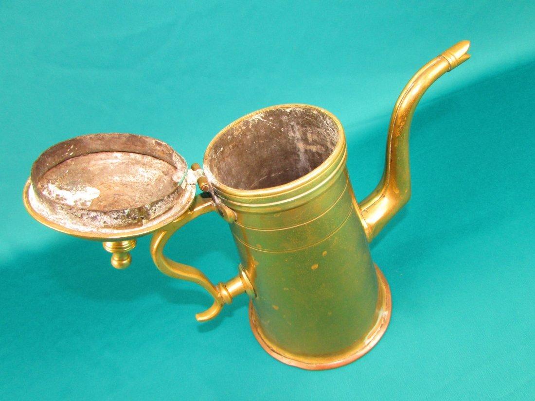 Late 18th century Dutch lighthouse brass coffee pot - 2