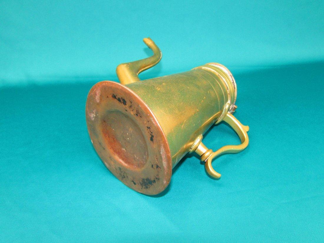 Late 18th century Dutch lighthouse brass coffee pot - 4
