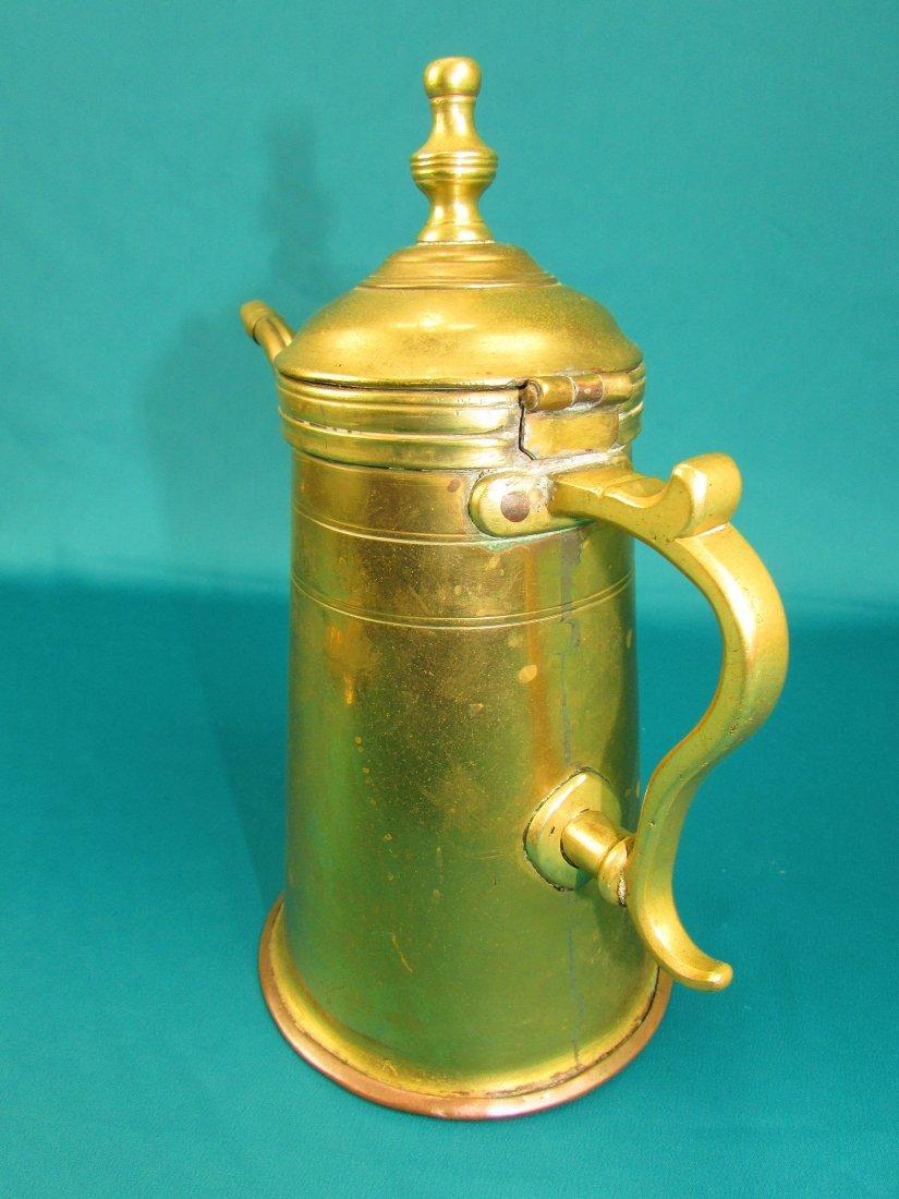 Late 18th century Dutch lighthouse brass coffee pot - 6